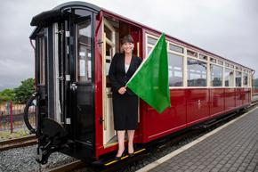 Maria Cook at the launch of Carriage 120